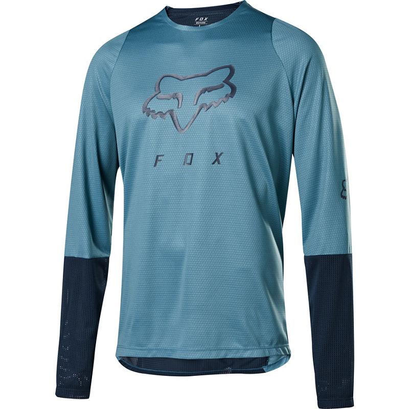 Fox Defend LS Foxhead Jersey Light Blue