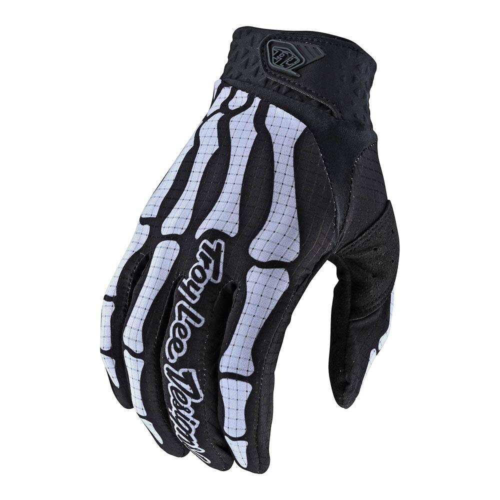 Troy Lee Designs Youth Air Glove Skully Black/White